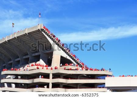 Game Day, Camp Randall Stadium, University of Wisconsin, Madison - stock photo