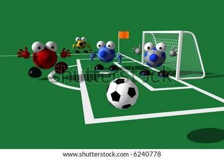 GAME DAY SERIES: Corner Kick - stock photo