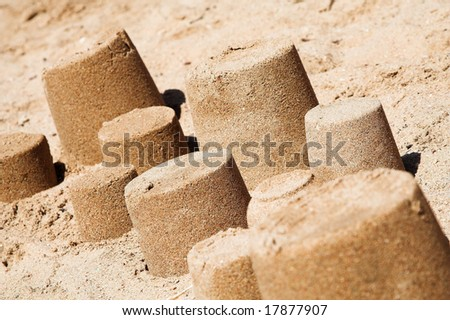 Game in a sandbox, on a coast of the red sea - stock photo