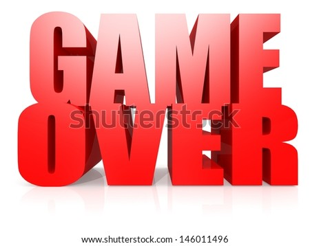 Game over word - stock photo