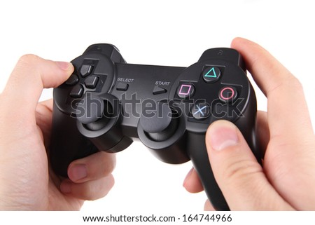 Game pad for video game - stock photo