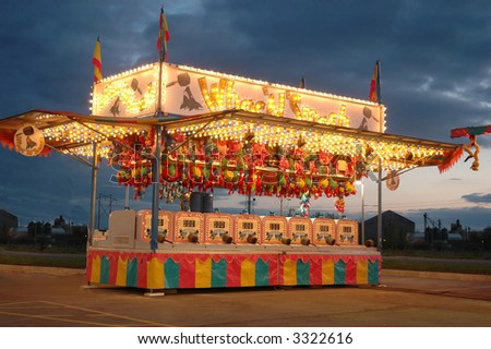 game stand at carnival - stock photo