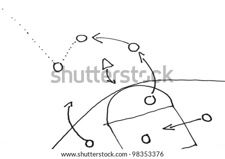 game strategy plan on white background with copyspace