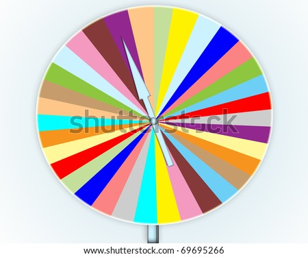 game wheel of fortune - stock photo