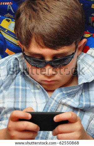 Gamer boy - stock photo