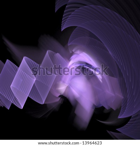 Gamma Wave Abstract - stock photo