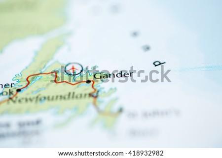Gander Canada Map.Gander Canada Stock Photo Edit Now 418932982 Shutterstock
