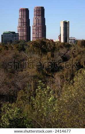 Gandhi Towers, apartment buildings at Mexico City - stock photo
