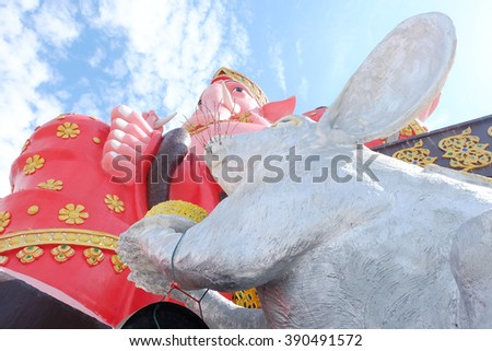 Ganesh temple sacred in Hinduism.  - stock photo
