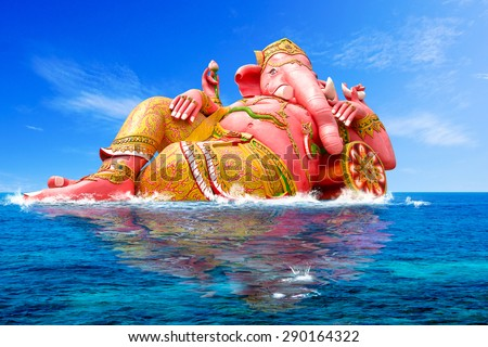 Ganesha, Hindu God and the god of success - stock photo