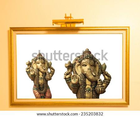 Ganesha  on a white background - stock photo