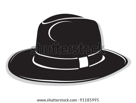 Gangster black hat. Vector format is also available in my gallery - stock photo