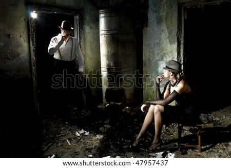 gangster's life - stock photo