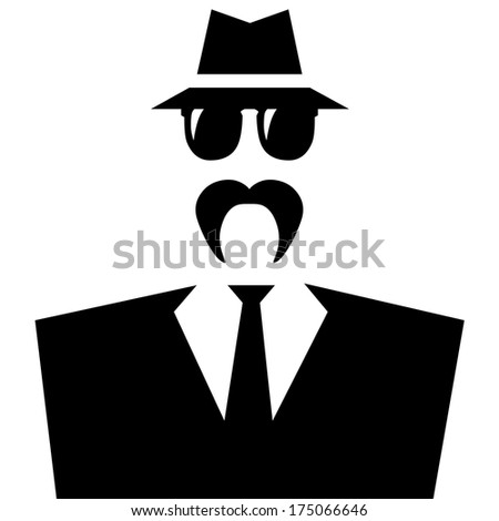 Gangster with mustache. - stock photo