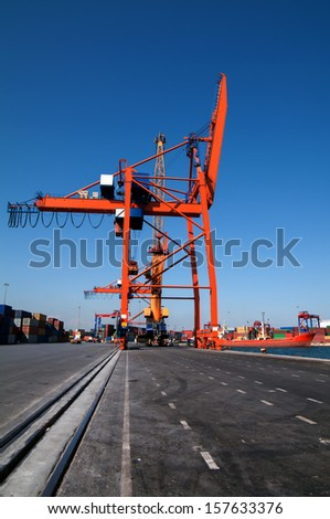 Gantry Crane - stock photo