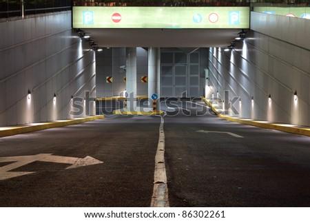 Garage entrance - stock photo