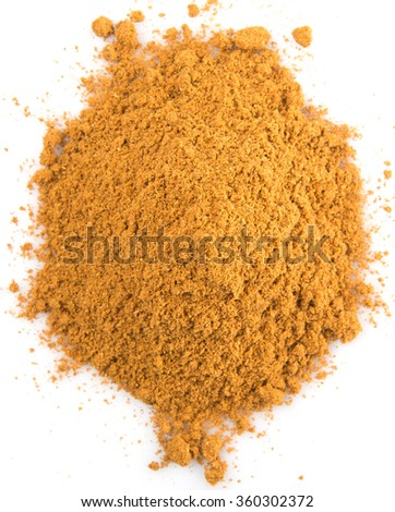 Garam masala or mix spices blend over white background