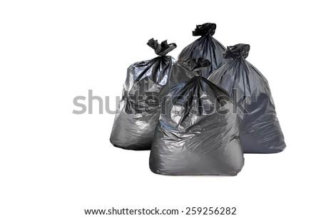 garbage bag on white background  - stock photo