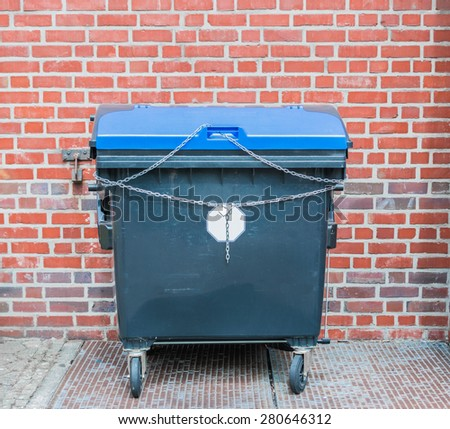 Garbage bin for recycling - stock photo
