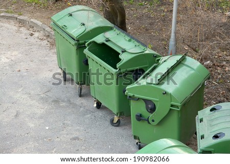 Garbage containers - stock photo