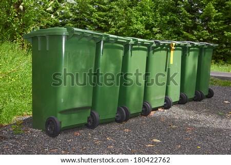 garbage tanks - stock photo