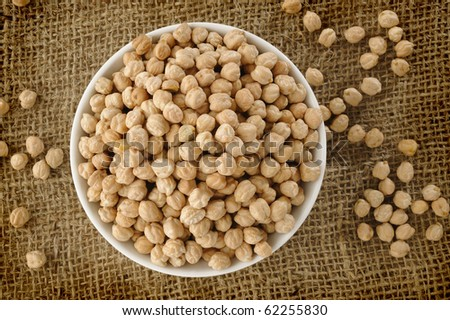 garbanzo bean on bowl - stock photo