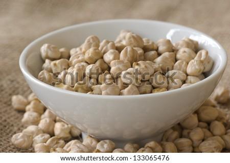 Garbanzo Beans; Non sharpened file - stock photo