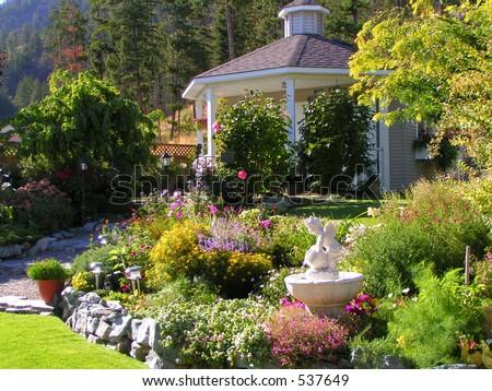 Garden and Gazebo *web use* - stock photo