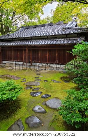 Garden at Kennin-ji Temple in Kyoto, Japan - stock photo