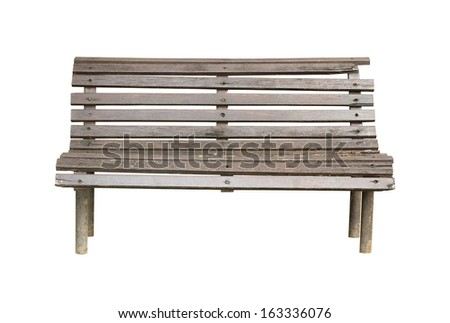 Garden bench (with clipping path) isolated on white background