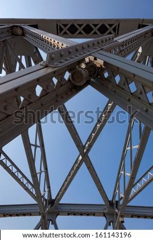 Garden Bridge, steel bridge over Suzhou River, Shanghai, China - stock photo