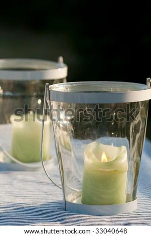 Garden candles - stock photo