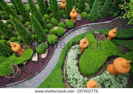 garden design . - stock photo