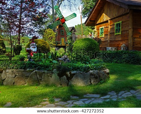 Garden House, Garden And Rock Garden Decoration