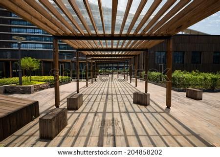 garden in a building - stock photo
