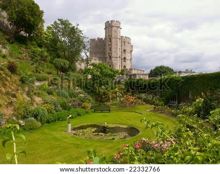 Garden in the Windsor Castle, UK - stock photo