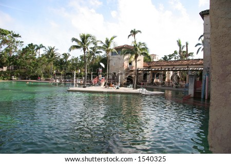Garden Lake in Miami - stock photo