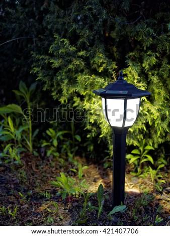 Beautiful Garden Lamp Shines Beautifully At Night