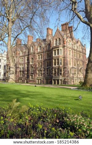 Garden of Lincolns Inn, Inns of Court, London - stock photo