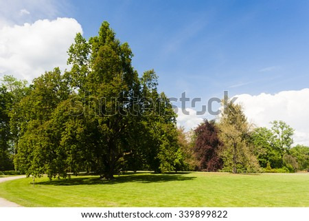 garden of Palace Sychrov, Czech Republic - stock photo
