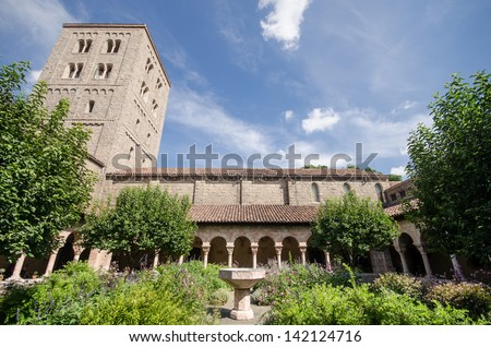 Garden of the Cloisters Museum in New York - stock photo
