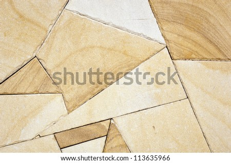 Garden paving stones in different shapes and sizes