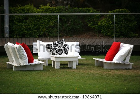 garden table - stock photo