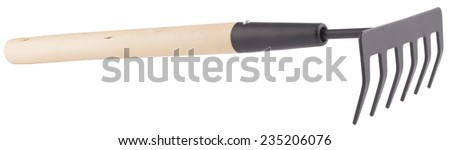 Garden tool for digging isolated - stock photo