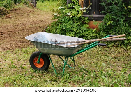 garden tools rakes trolley summer spring