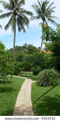 Garden View - stock photo