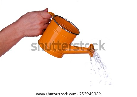 Garden watering can - stock photo