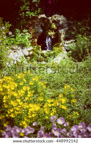 Garden With Flowers - stock photo