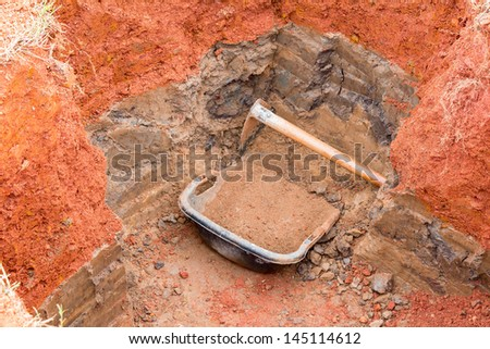gardening equipment shovel - stock photo