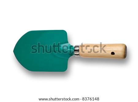 Gardening tool  - trowel - isolated - stock photo
